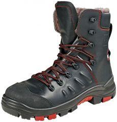 acce9aefbb0 HIRSHOLM S3 HRO CI holeňová bezpečnostní obuv zateplená - černá červená